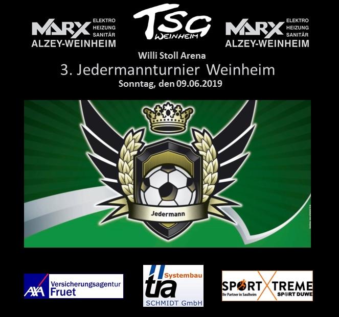 3. Jedermannturnier der TSG Weinheim am 9. Juni 2019